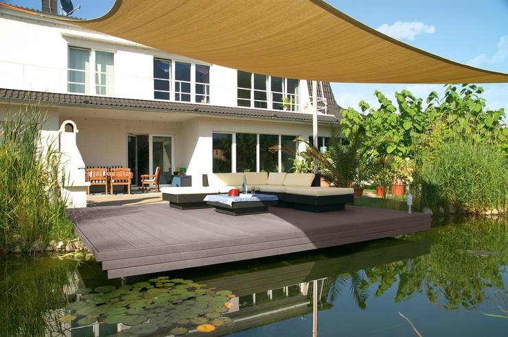 CLASSIC Barfußdiele nussbraun:  Terrasse von megawood - Das Terrassensystem