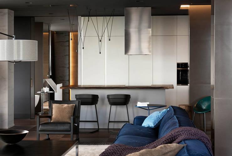 Квартира для Космополита: Кухни в . Автор – INCUBE Алексея Щербачёва
