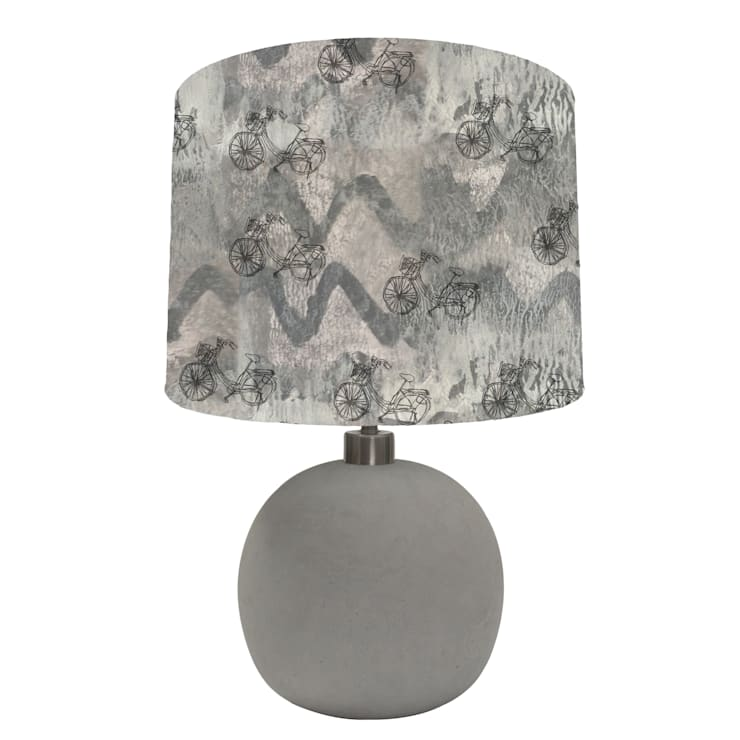 Grey bike abstract lampshade: modern  by bymarie, Modern