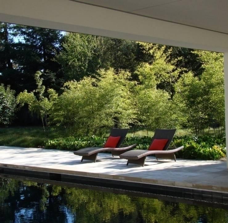 Aussenanlage mit Pool nähe Mainz:  Pool von Paul Marie Creation
