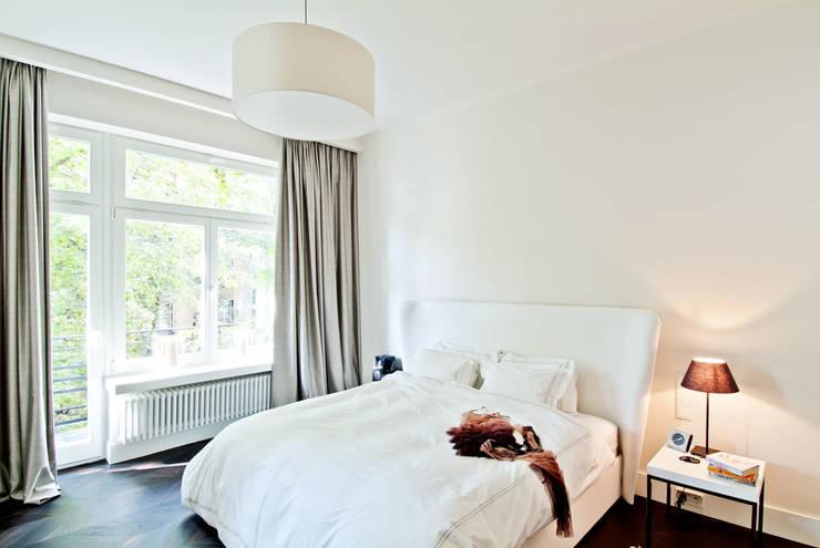 150 m, Śródmieście, Wwa: styl , w kategorii Sypialnia zaprojektowany przez dziurdziaprojekt
