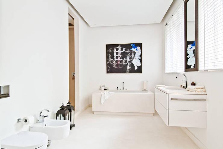 150 m, Śródmieście, Wwa: styl , w kategorii Łazienka zaprojektowany przez dziurdziaprojekt