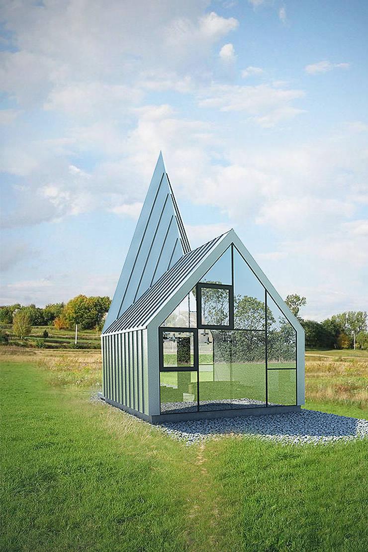 KAPLICA W POLU: styl , w kategorii Domy zaprojektowany przez 90 stopni