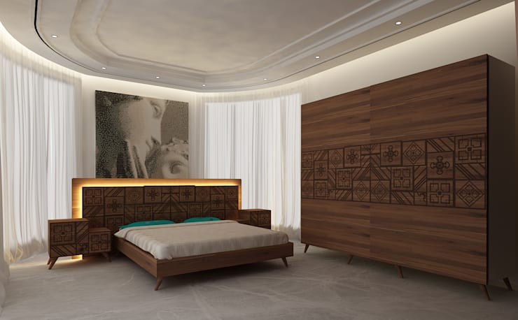 Inan AYDOGAN /IA  Interior Design Office – Moroccan Inspired Bedroom: modern tarz , Modern
