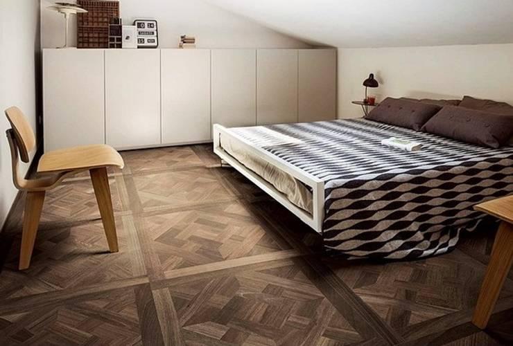 Plaza Yapı Malzemeleri – Ahşap Görünümlü İtalyan Seramikler: rustik tarz tarz Yatak Odası