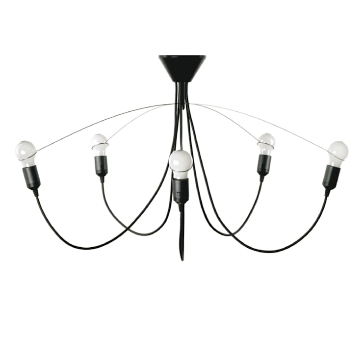 heavy guy chandelier black:  Woonkamer door MVOS