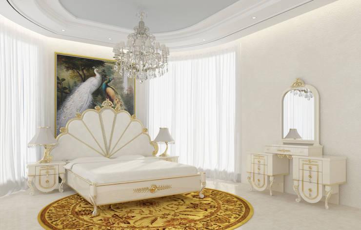 Gold Avangarde Bedroom ( http://www.eronur.com/ ) Inan AYDOGAN /IA Interior Design Office Klasik