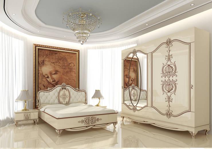 Inan AYDOGAN /IA  Interior Design Office – White Avangarde Bedroom ( http://www.eronur.com/ ):  tarz Yatak Odası