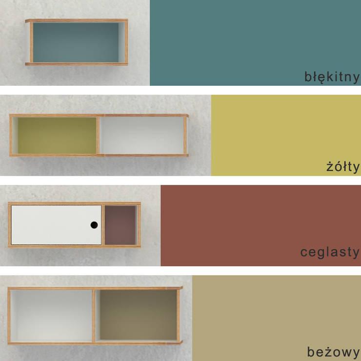 szafka ze sklejki wisząca Intterno : styl , w kategorii Salon zaprojektowany przez Intterno
