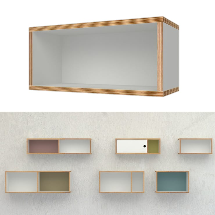 szafka ze sklejki wisząca Intterno: styl , w kategorii Salon zaprojektowany przez Intterno