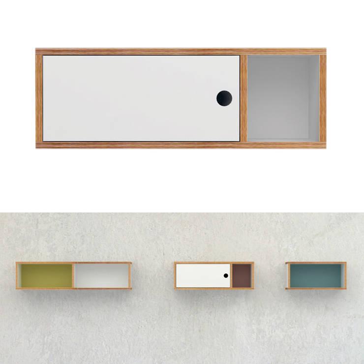 szafka ze sklejki Intterno: styl , w kategorii Sypialnia zaprojektowany przez Intterno