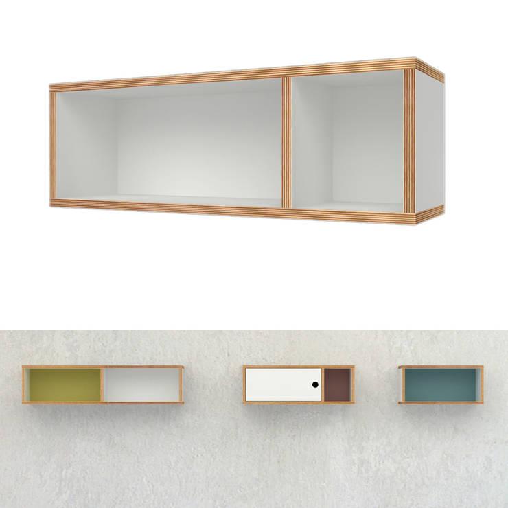 wisząca szafka ze sklejki Intterno: styl , w kategorii Salon zaprojektowany przez Intterno