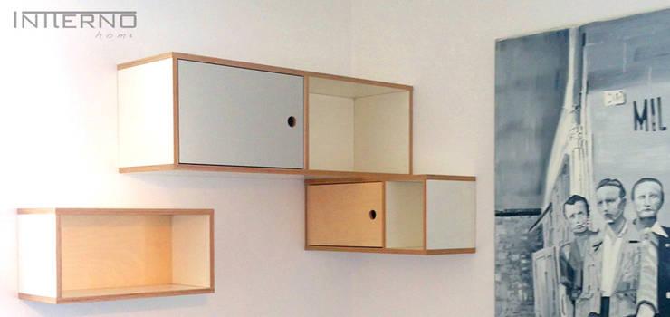 szafki ze sklejki Intterno: styl , w kategorii Salon zaprojektowany przez Intterno