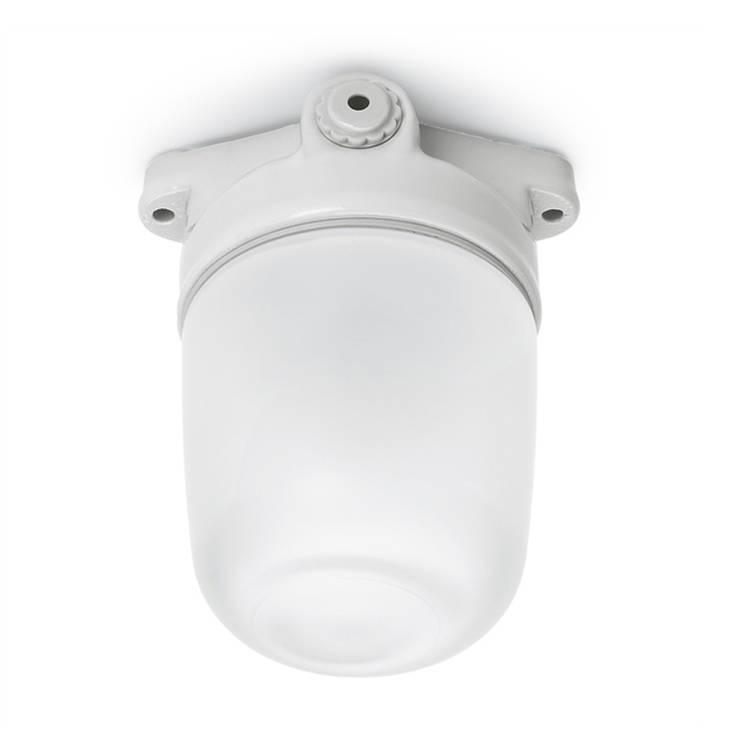 lampa Bauhaus sufitowa - matowe szkło i biała porcelana: styl , w kategorii Łazienka zaprojektowany przez Intterno,