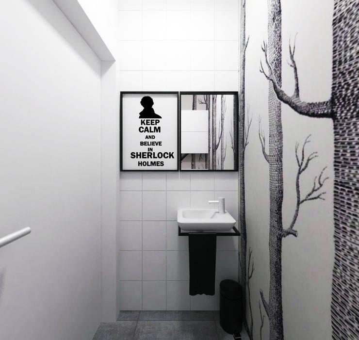 Pomieszczenie socjalne - toaleta: styl , w kategorii Biurowce zaprojektowany przez HUK atelier