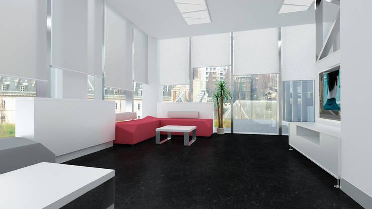 ML MIMARLIK VE DEKORASYON – KOSB Yönetim Binası:  tarz Ofis Alanları