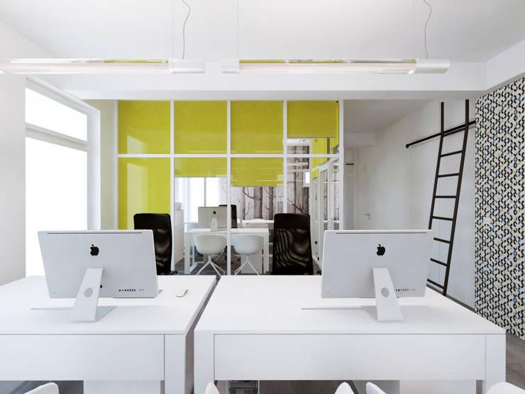 Biuro: styl , w kategorii Biurowce zaprojektowany przez HUK atelier