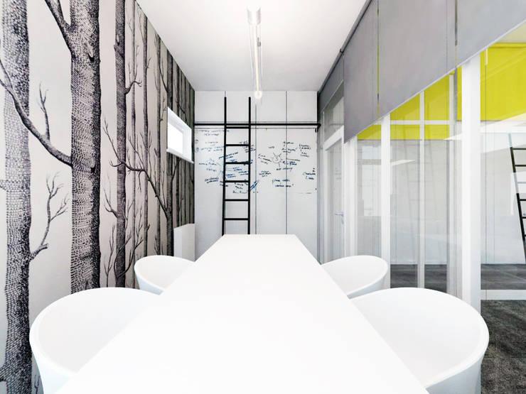 Sala konferencyjna: styl , w kategorii Biurowce zaprojektowany przez HUK atelier