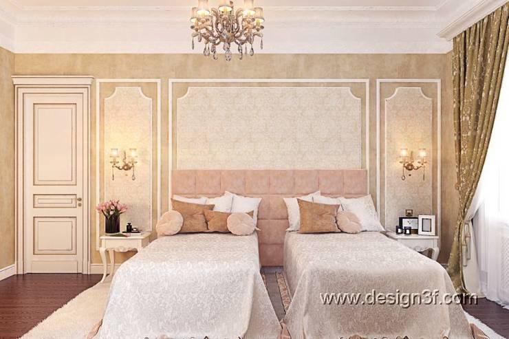 спальня: Спальни в . Автор – студия Design3F