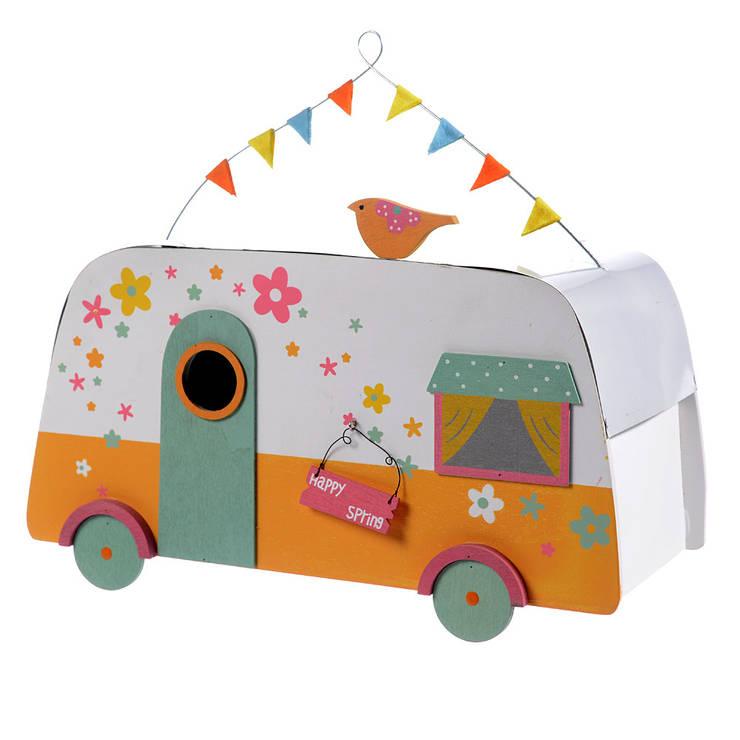 Caravan wood  Kleur: White-or:   door Groothandel in decoratie en lifestyle artikelen, Klassiek
