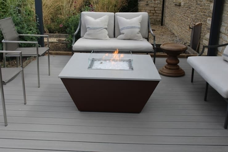 Aztec Gas Fire Table - Cotswold: modern  by Rivelin, Modern