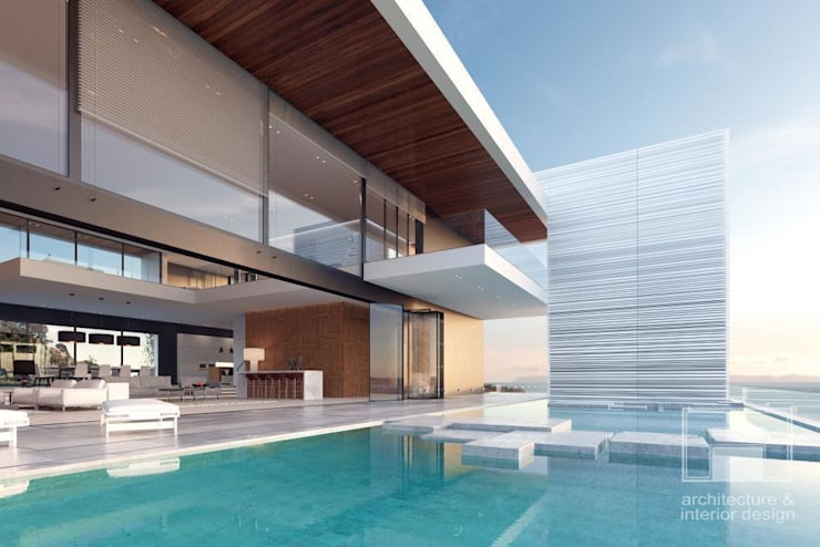 Море Вокруг. Архитектурное решение + Интерьер дома (1000м2): Дома в . Автор –  i-project