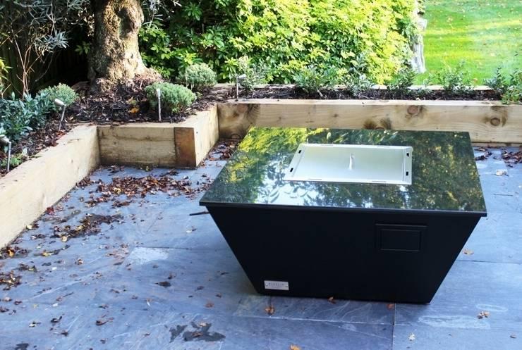 Aztec Gas Fire Table - New Forest: modern  by Rivelin, Modern