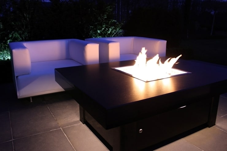Bahama Gas Fire Table - Doncaster: modern  by Rivelin, Modern