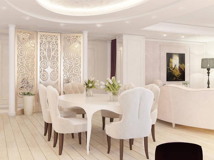 ЖК <q>Тихвин</q>: Столовые комнаты в . Автор – Частный дизайнер и декоратор Девятайкина Софья,