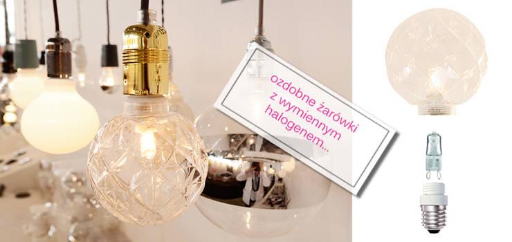żarówki dekoracyjne z wymiennym halogenem: styl , w kategorii Salon zaprojektowany przez Intterno,