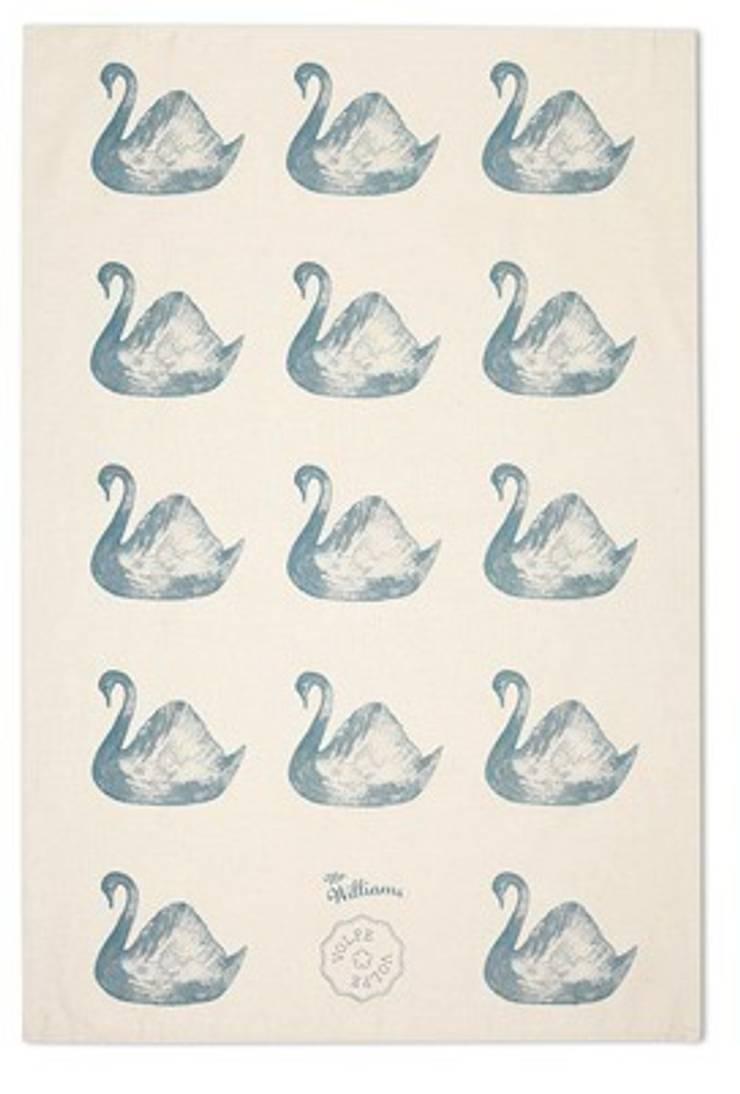 Swan Tea Towel: modern  by Volpe and Volpe, Modern