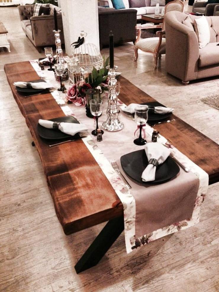 Evma Ev Eşyaları – X Ladin Table: rustik tarz tarz Yemek Odası
