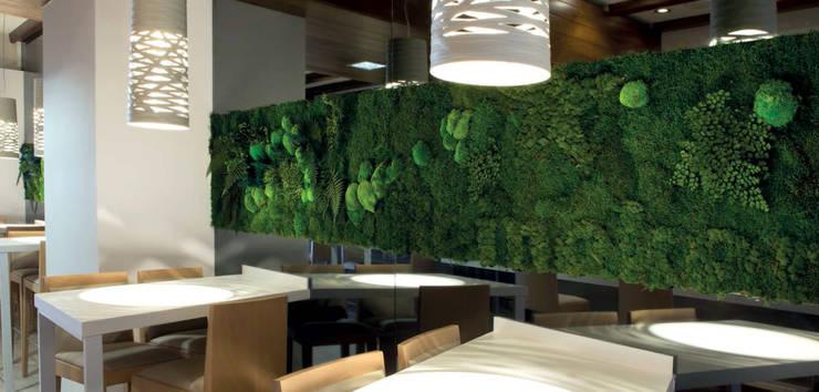 moss with plants design: styl , w kategorii Gastronomia zaprojektowany przez rstudio