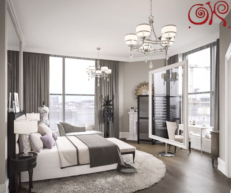 Текущий проект: дизайн квартиры в пентхаусе: Спальни в . Автор – Дизайн студия Ольги Кондратовой