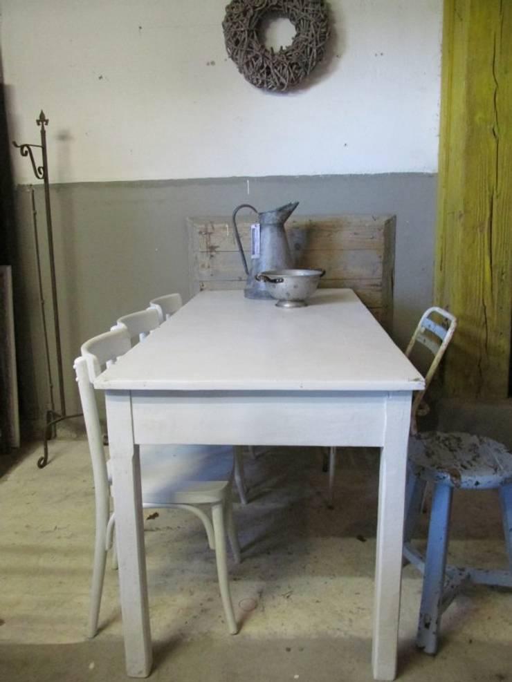 Brocante Witte Eetkamertafel.Smalle Brocante Witte Tafel Met 4 Lades Door Were Home Homify