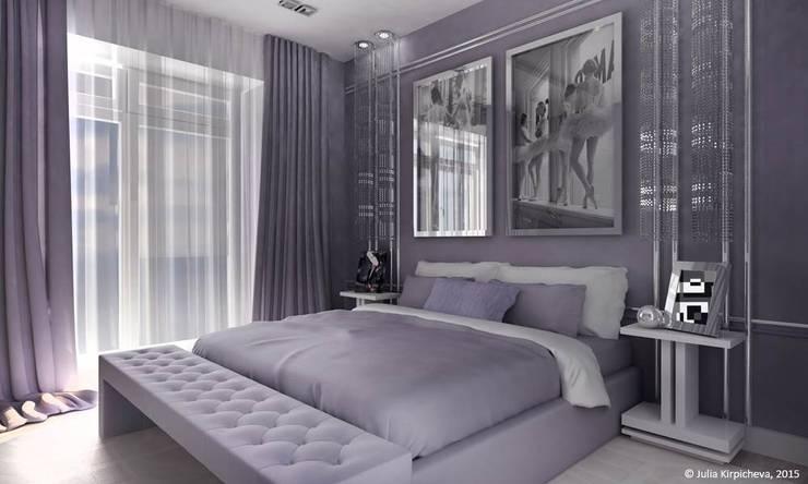 Квартира в Москве: Спальни в . Автор – Юлия Кирпичева