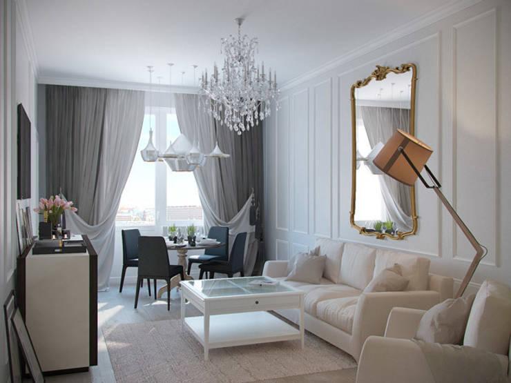 Квартира в ЖК <q>Суоми</q>: Гостиная в . Автор – Студия дизайна интерьера Маши Марченко