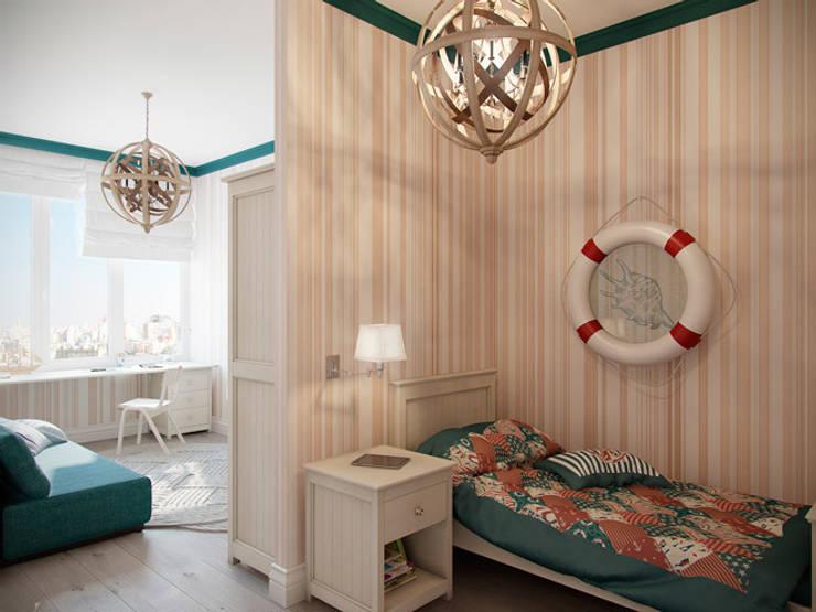 Квартира в ЖК <q>Суоми</q>: Детские комнаты в . Автор – Студия дизайна интерьера Маши Марченко