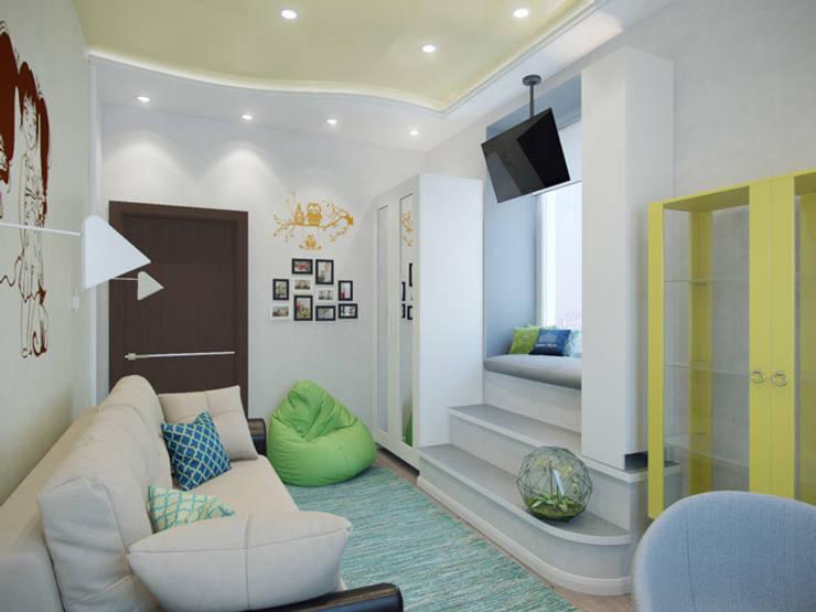 Квартира в ЖК <q>Вива</q>: Детские комнаты в . Автор – Студия дизайна интерьера Маши Марченко