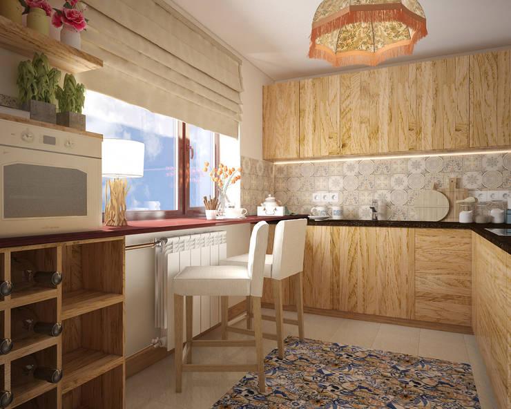 Экоквартира в Тропарево: Кухни в . Автор – «Студия 3.14», Эклектичный