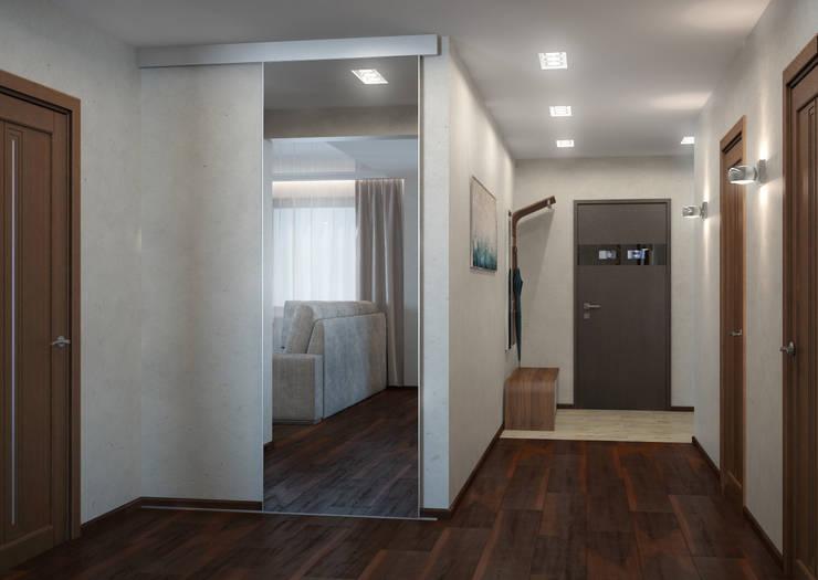 Двухкомнатная квартира для холостяка: Коридор и прихожая в . Автор – Center of interior design