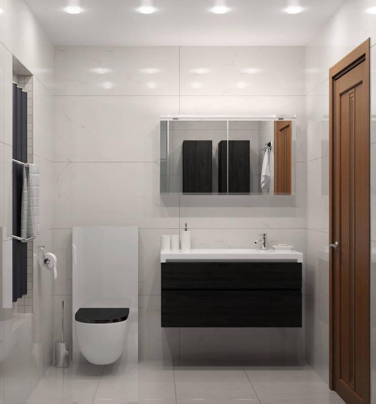 Двухкомнатная квартира для холостяка: Ванные комнаты в . Автор – Center of interior design