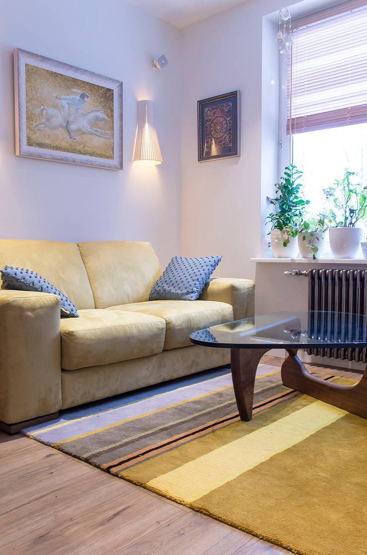 Квартира в ЖК Новая Скандинавия: Гостиная в . Автор – projectorstudio