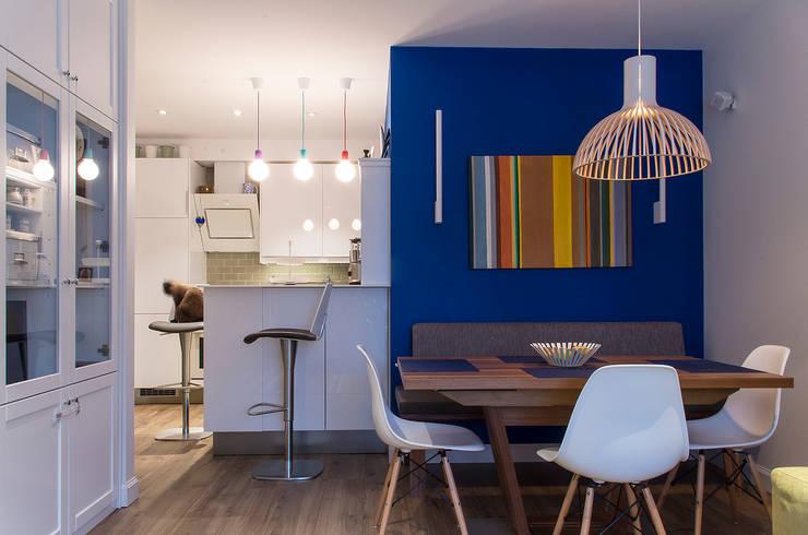 Квартира в ЖК Новая Скандинавия: Столовые комнаты в . Автор – projectorstudio