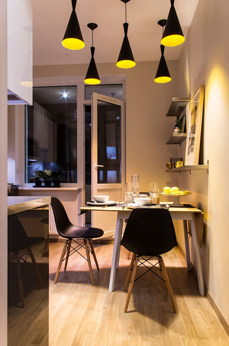 квартира в ЖК Семь столиц: Кухни в . Автор – projectorstudio