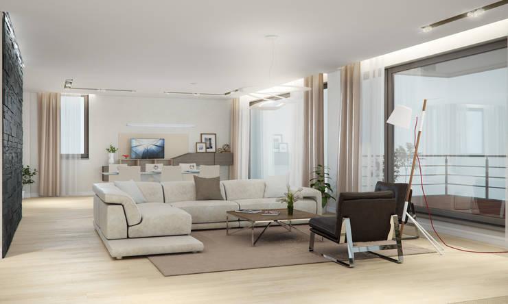 Квартира в жилом комплексе AQUAMARINE: Гостиная в . Автор – Center of interior design