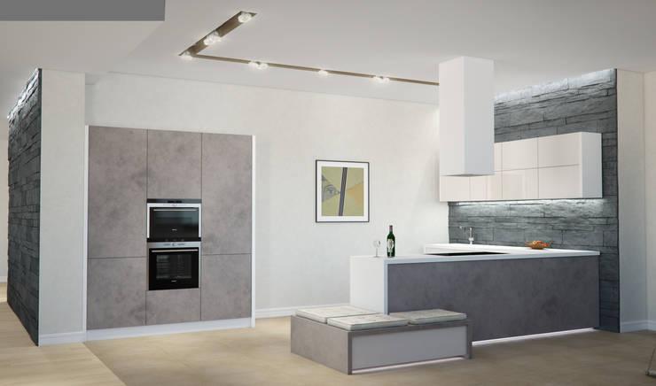 Квартира в жилом комплексе AQUAMARINE: Кухни в . Автор – Center of interior design