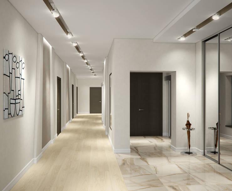 Квартира в жилом комплексе AQUAMARINE: Коридор и прихожая в . Автор – Center of interior design