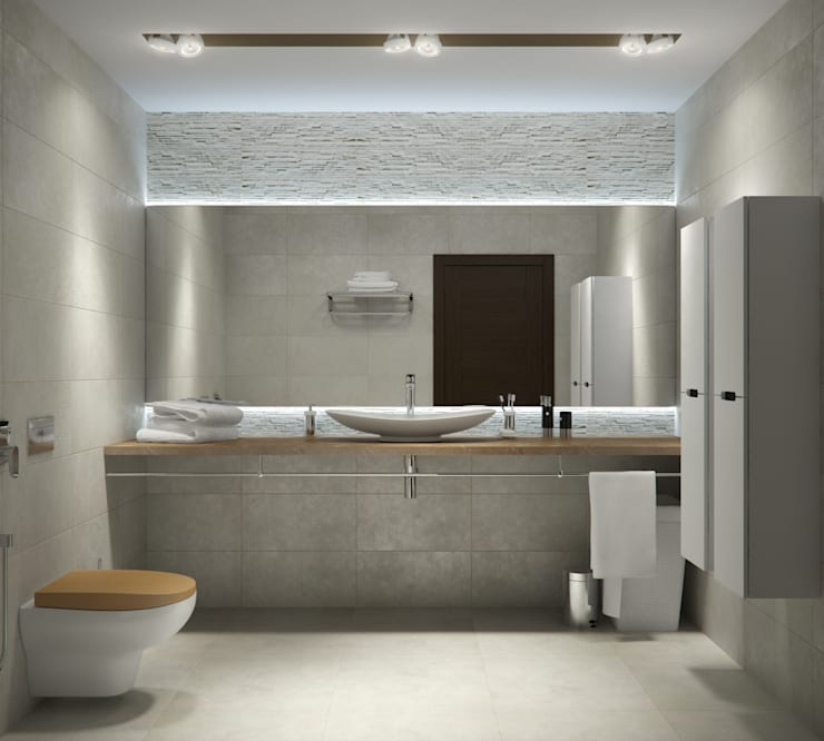 Квартира в жилом комплексе AQUAMARINE: Ванные комнаты в . Автор – Center of interior design