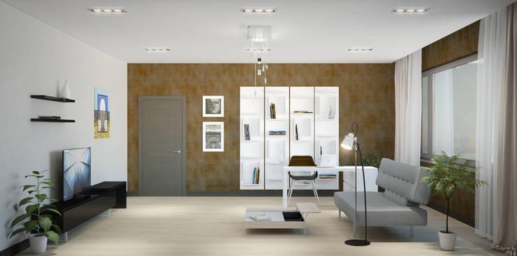 Квартира в жилом комплексе AQUAMARINE: Рабочие кабинеты в . Автор – Center of interior design